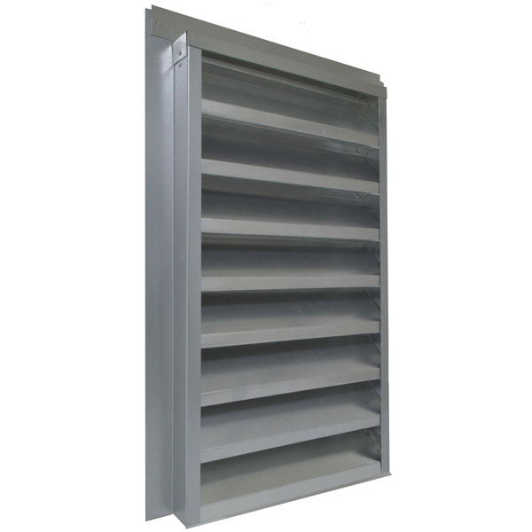 "14""W x 24""H (102 Sq. In. Venting Area) Vulcan Fire Stopping Gable Vent for Flush Mount, Galvanized Steel"