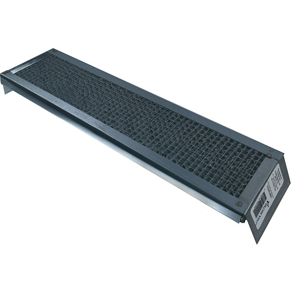 "3 1/2""H x 14""W (24 Sq. In. Venting Area) Vulcan Fire Stopping Reverse Tab Eave Vent, Galvanized Steel"