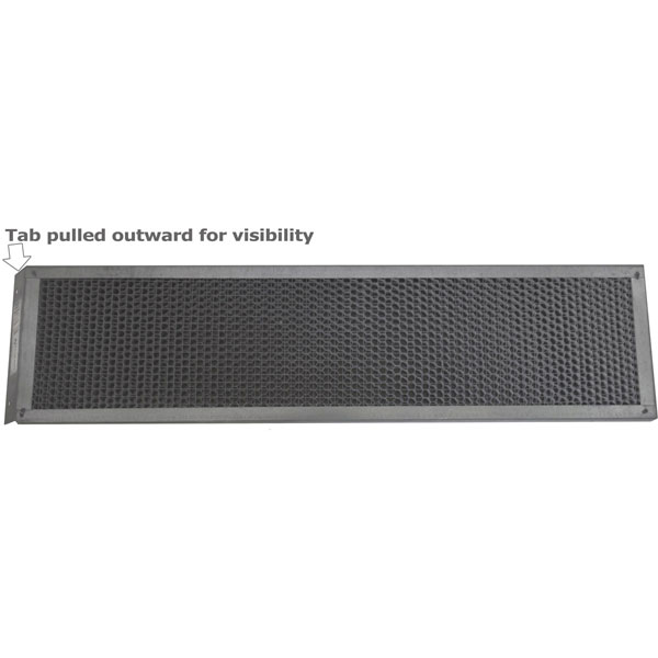 "5 1/2""H x 22""W (75 Sq. In. Venting Area) Vulcan Fire Stopping Reverse Tab Eave Vent, Galvanized Steel"