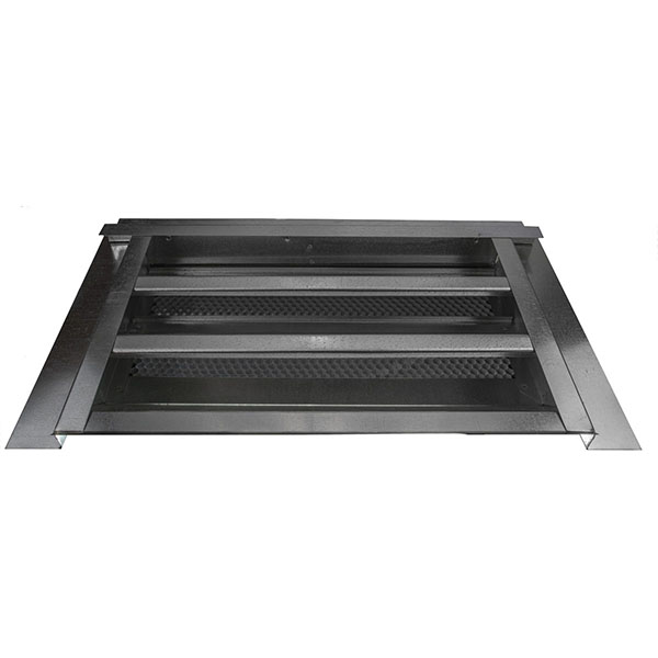 "14""W x 8""H (35 Sq. In. Venting Area) Vulcan Fire Stopping Gable Vent 3/4"" Recessed Flange for Stucco, Galvanized Steel"