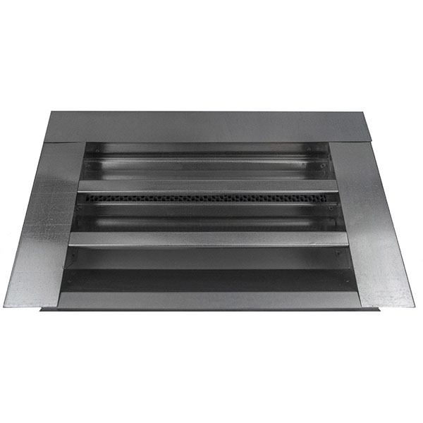 "14""W x 8""H (35 Sq. In. Venting Area) Vulcan Fire Stopping Gable Vent Surface Flange, Galvanized Steel"