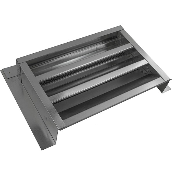 "14""W x 8""H (35 Sq. In. Venting Area) Vulcan Fire Stopping Gable Vent 1-1/2"" Recessed Flange for Stucco w/Foam, Galvanized Steel"