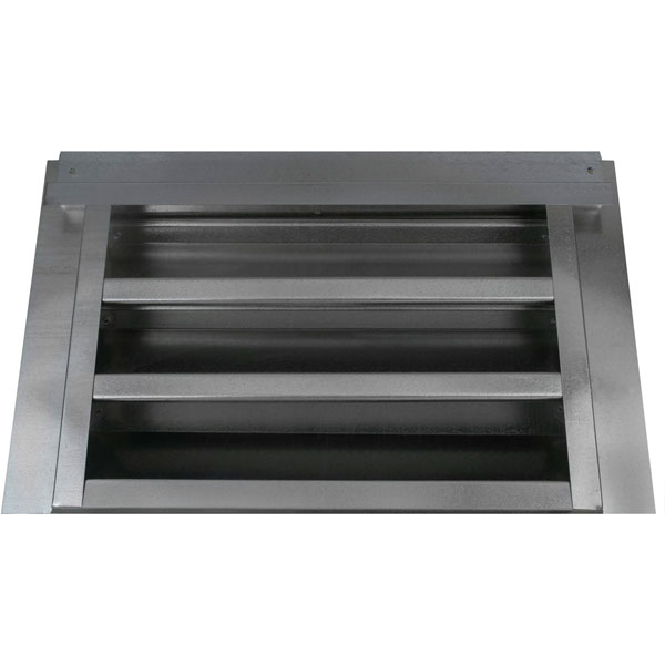"14""W x 8""H (35 Sq. In. Venting Area) Vulcan Fire Stopping Gable Vent 2-5/8"" Recessed Flange for Retrofit, Galvanized Steel"