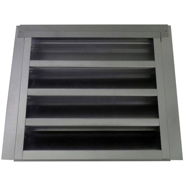"14""W x 12""H (52 Sq. In. Venting Area) Vulcan Fire Stopping Gable Vent 3/4"" Recessed Flange for Stucco, Galvanized Steel"