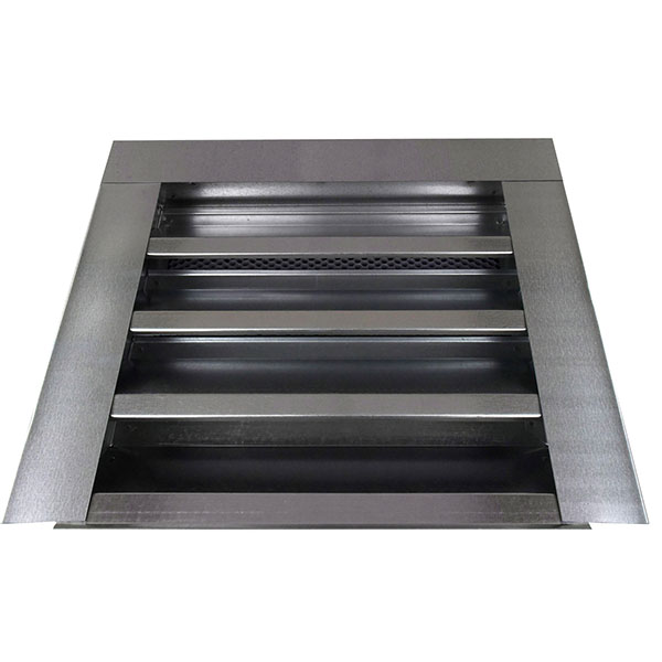 "14""W x 12""H (52 Sq. In. Venting Area) Vulcan Fire Stopping Gable Vent Surface Flange, Galvanized Steel"