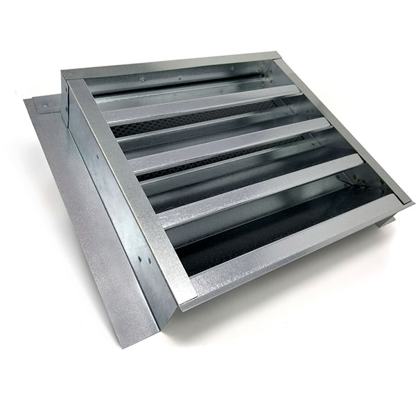 "14""W x 12""H (52 Sq. In. Venting Area) Vulcan Fire Stopping Gable Vent 2-5/8"" Recessed Flange for Retrofit, Galvanized Steel"