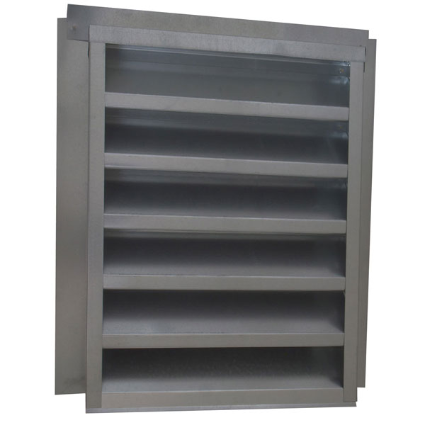 "14""W x 18""H (78 Sq. In. Venting Area) Vulcan Fire Stopping Flat Back Gable Vent, Galvanized Steel"