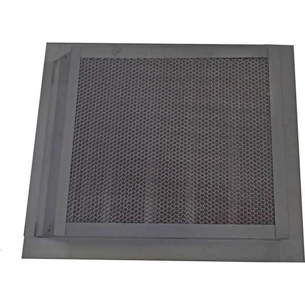 "14""W x 18""H (78 Sq. In. Venting Area) Vulcan Fire Stopping Retrofit Gable Vent, Galvanized Steel"