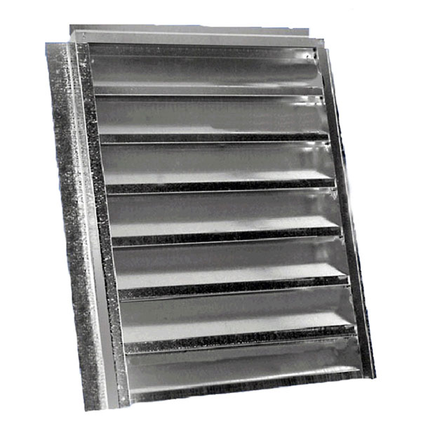 "14""W x 24""H (102 Sq. In. Venting Area) Vulcan Fire Stopping Flat Back Gable Vent, Galvanized Steel"