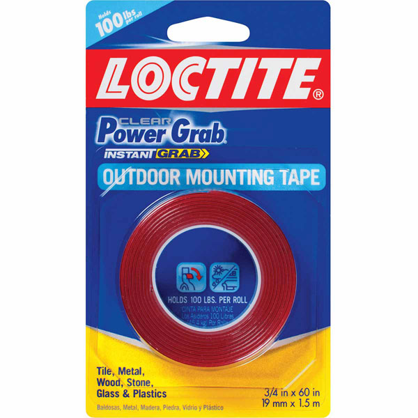 3/4 x 60 inch (19mm x 1.5m) Loctite Power Grab Mounting Tape