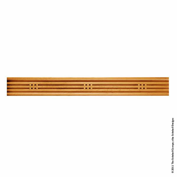 """5 3/4""""W X 1 1/4""""Thick (16"""" Repeat) Molding American Arts & Crafts Linear Squares Butt 8'"""