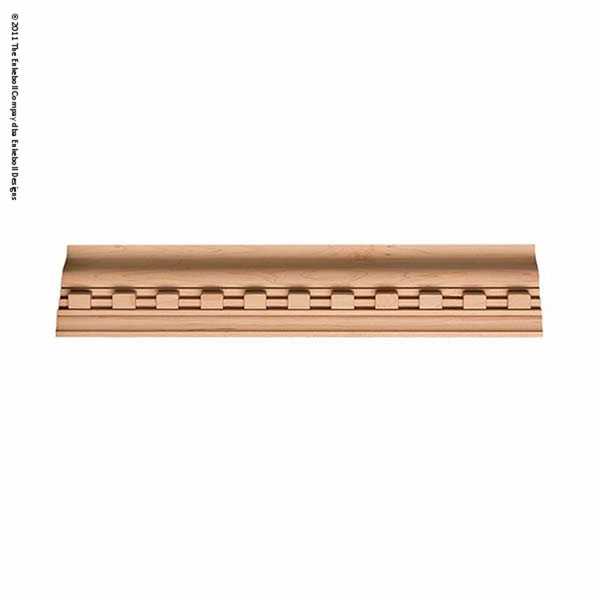 """2 7/8""""H X 3""""D Crown At 45 Degree Angle (1 1/2"""" Repeat) Molding Dentil Crown 8'"""