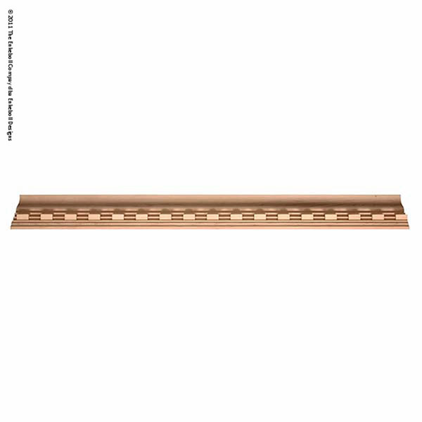 """3 5/8""""H X 3 3/4""""D Crown At 45 Degree Angle (2 1/2"""" Repeat) Molding Dentil Crown 8'"""