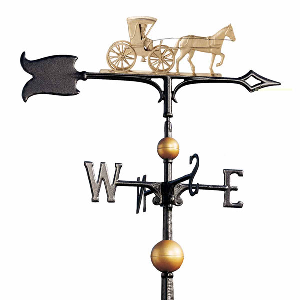"13 1/2""L x 6""H 30"" Full-Bodied Country Doctor Weathervane, Gold-Bronze"
