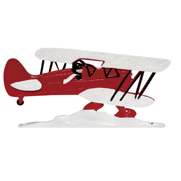 """12""""L x 8""""H 30"""" Airplane Traditional Directions Weathervane, Garden Color"""