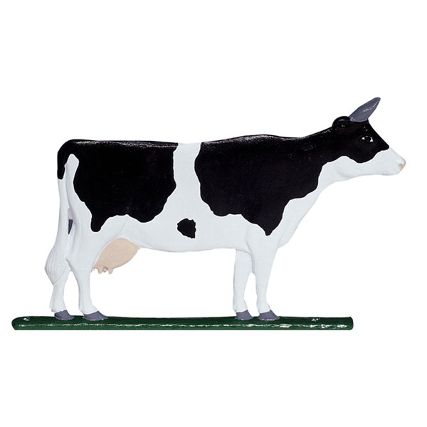 "11""L x 7""H 30"" Cow Traditional Directions Weathervane, Rooftop Color"