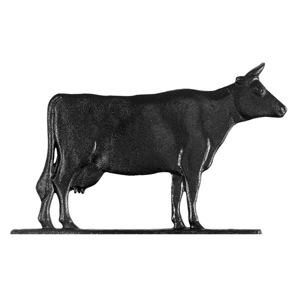 "11""L x 7""H 30"" Cow Traditional Directions Weathervane, Garden Black"