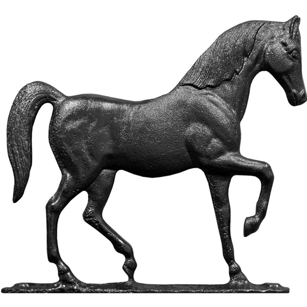 """9""""L x 8""""H 30"""" Horse Traditional Directions Weathervane, Rooftop Black"""