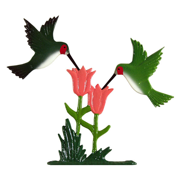 "8""L x 10""H 30"" Hummingbirds Traditional Directions Weathervane, Rooftop Color"