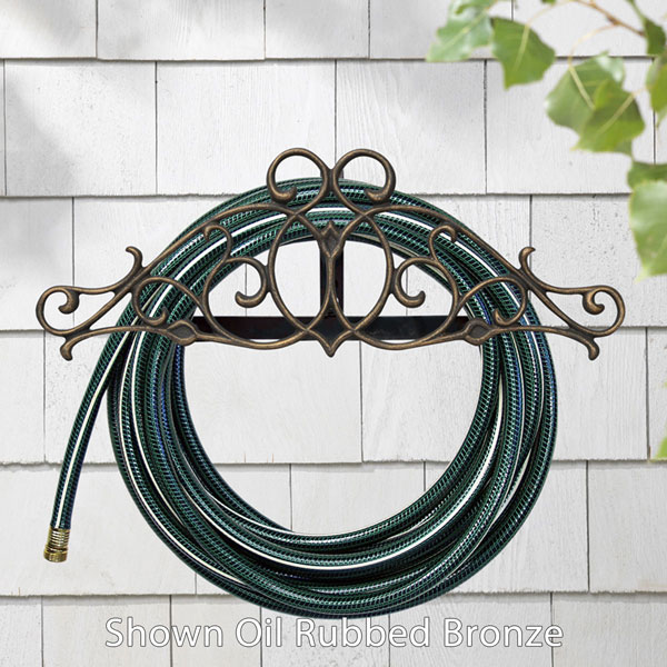 "23""L x 8 1/4""H x 6 1/2""D Tendril Hose Holder, Copper Verdi"