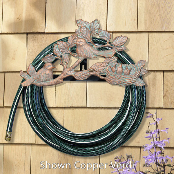 "18""L x 9 3/4""H x 6 1/2""D Chickadee Hose Holder, French Bronze"