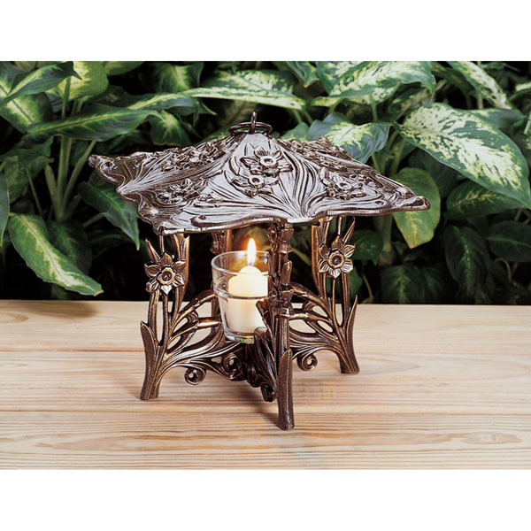 "9 1/2""L x 9 1/2""W x 9 1/2""H Daffodil Twilight Lantern, French Bronze"