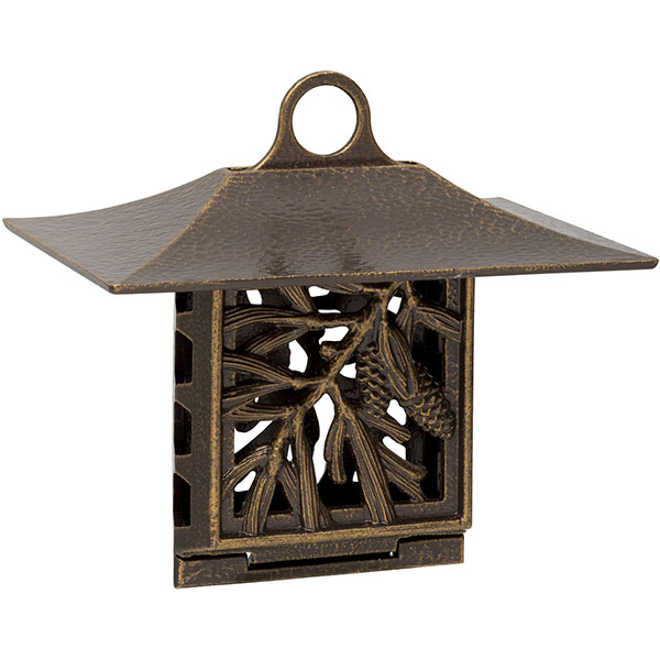 "10""W x 9""H x 6 3/4""D Pinecone Suet Feeder, French Bronze"