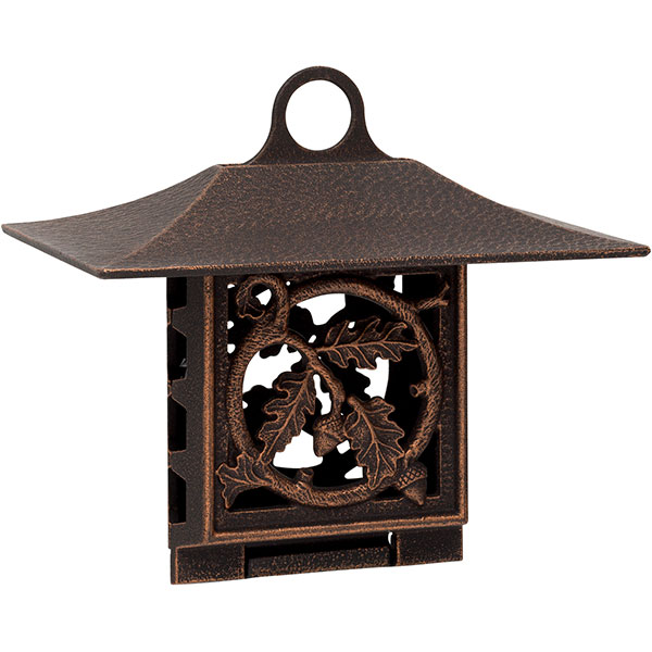 "10""W x 9""H x 6 3/4""D Oak Leaf Suet Feeder, Oil Rub Bronze"