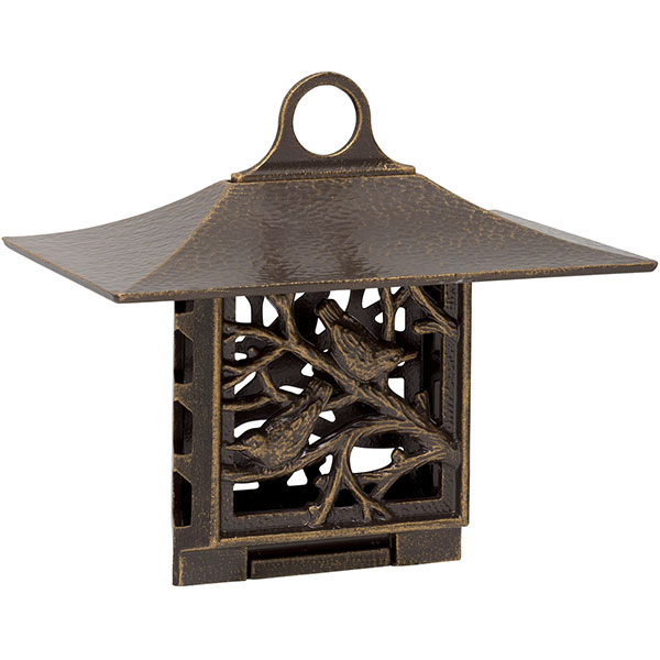 "10""W x 9""H x 6 3/4""D Nuthatch Suet Feeder, French Bronze"