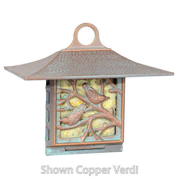 "10""W x 9""H x 6 3/4""D Nuthatch Suet Feeder, Oil Rub Bronze"