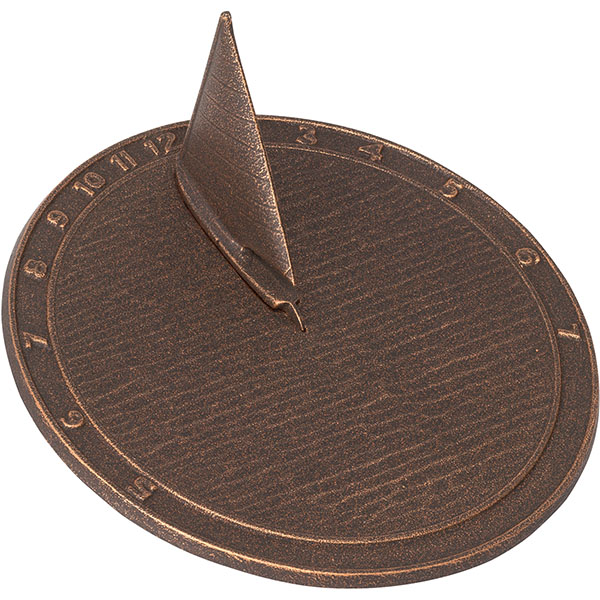 "9 1/2"" Diameter Day Sailor Medium Sundial, Oil Rub Bronze"
