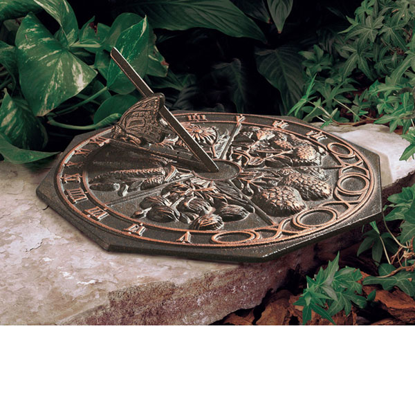 "10"" Diameter Butterfly Medium Sundial, Oil Rub Bronze"