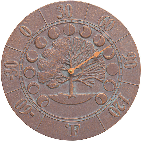 "12"" Diameter Times & Seasons Thermometer, Copper Verdi"