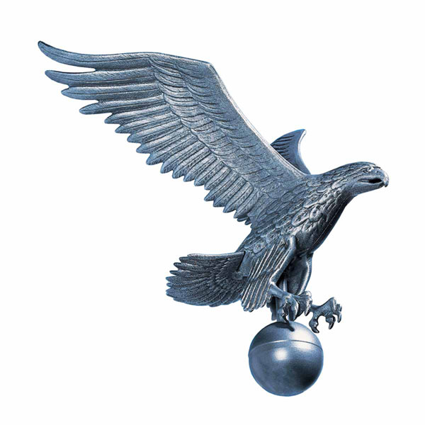 "15""W x 19""H Large Flagpole Eagle, Pewter"