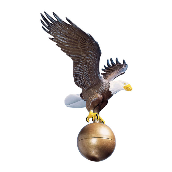 "12""W x 12""H Medium Flagpole Eagle, Color"