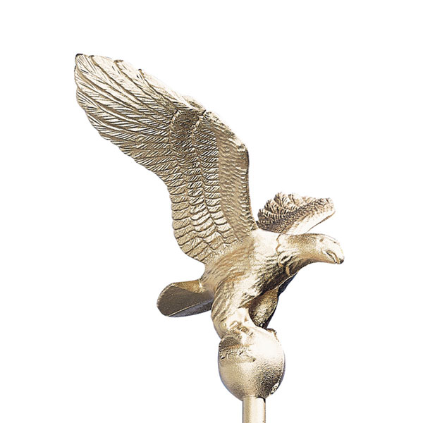 "9""W x 9""H Small Flagpole Eagle, Gold Bronze"