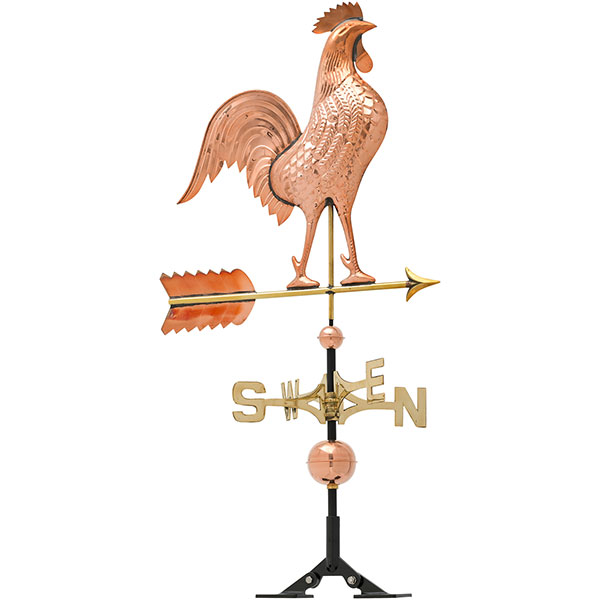 "20""L x 3""W x 46""H Copper Rooster Classic Directions Weathervane, Polished"