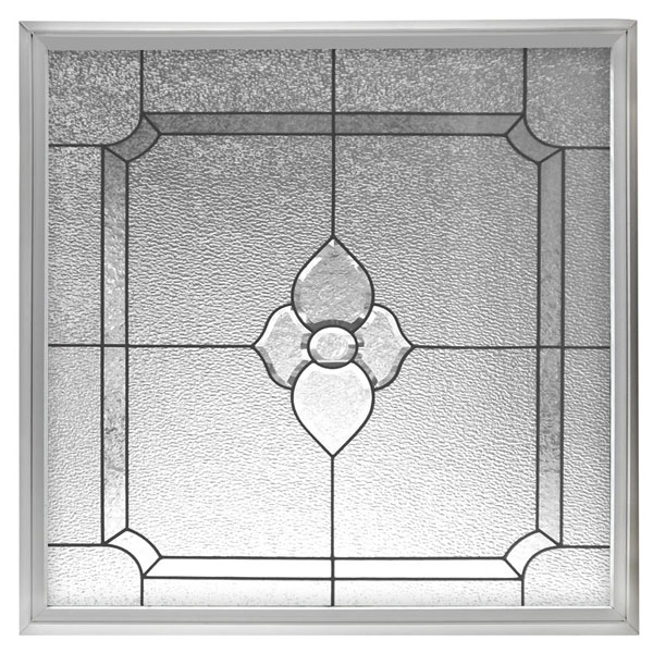 "Rough Opening: 42 1/2""W x 42 1/2""H (Actual Size: 42""W x 42""H) Charming Bloom Window, Black Patina"