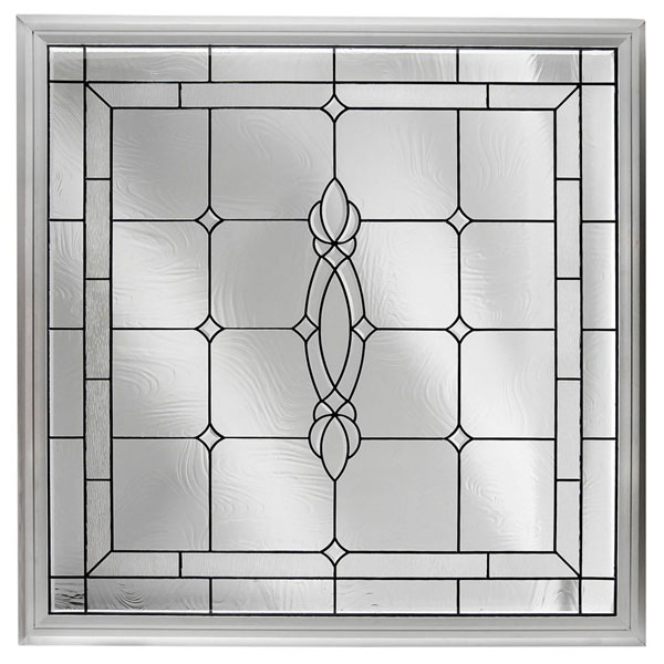 "Rough Opening: 48""W x 48""H (Actual Size: 47 1/2""W x 47 1/2""H) Large Craftsman Window, Black Patina"