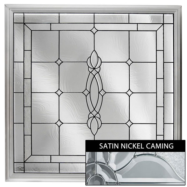 "Rough Opening: 48""W x 48""H (Actual Size: 47 1/2""W x 47 1/2""H) Large Craftsman Window, Satin Nickel"