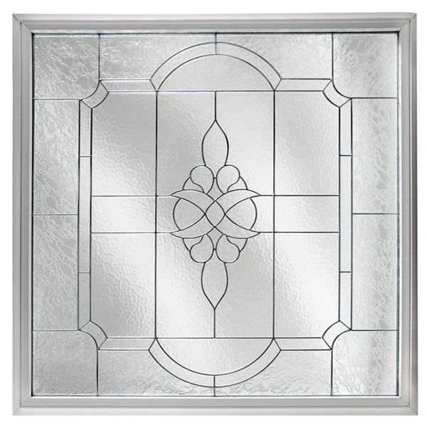 "Rough Opening: 48""W x 48""H (Actual Size: 47 1/2""W x 47 1/2""H) Large Victorian Window, Black Patina"