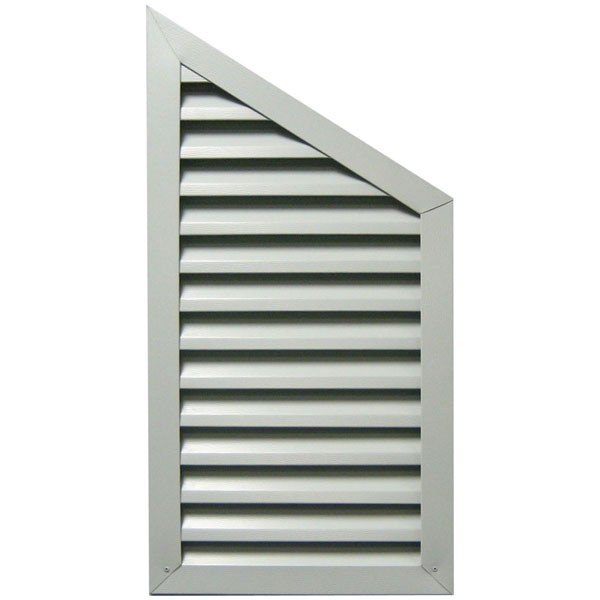 Half Pitched Aluminum Gable Vent Louver, Right