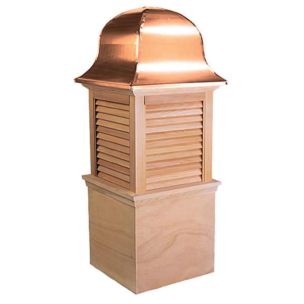 Western Red Cedar Stephenson Richmond Louver Cupola with Copper Roof