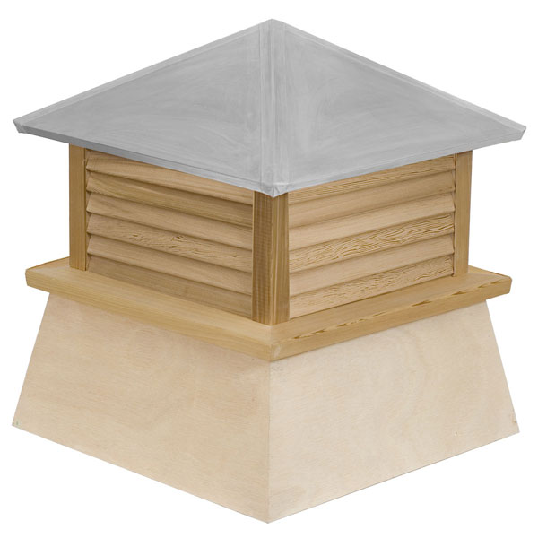 Western Red Cedar Stephenson Manchester Louver Cupola with Aluminum Roof