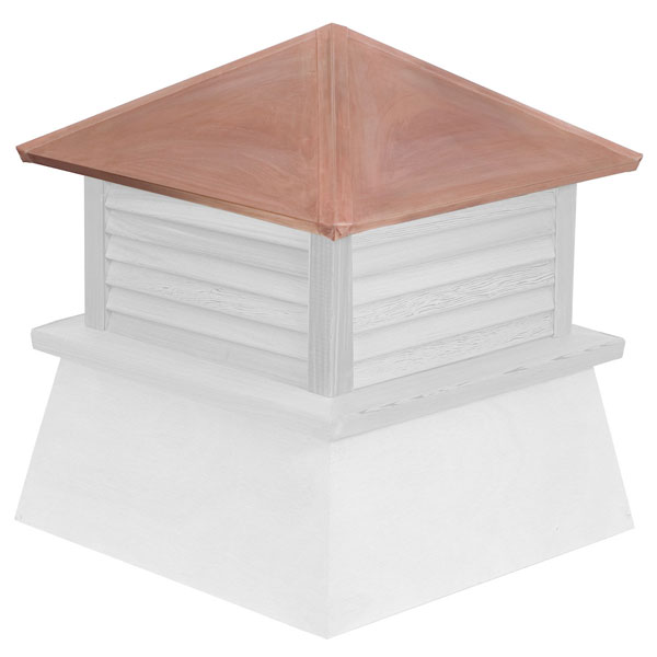 Vinyl Stephenson Manchester Louver Cupola with Copper Roof