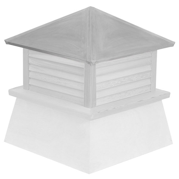 Vinyl Stephenson Manchester Louver Cupola with Aluminum Roof