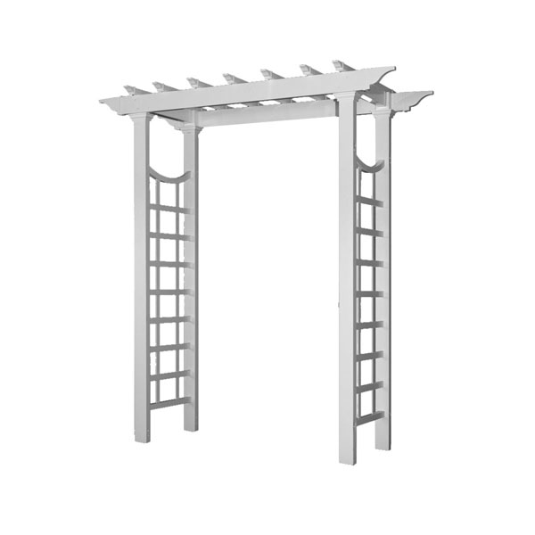 "Westhaven Arbor, White, Dimensions: 57""W x 24""D x 87 3/4""H"