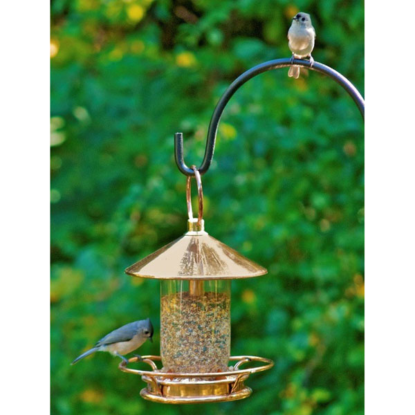 "9""W x 14 1/2""H Classic Perch Bird Feeder, Polished Copper"