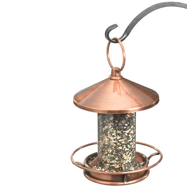 "9""W x 14 1/2""H Classic Perch Bird Feeder, Venetian Bronze"