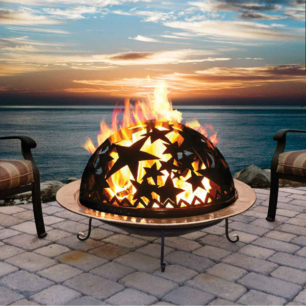 "25 1/2""W x 24""H Small Starry Night Fire Dome, Complete Set"
